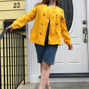 Michael Kors bright yellow double breasted jacket